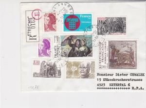 France 1982 Etrechy Cancels Diff Subjects Multi Stamps Registered Cover Rf 29858