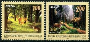 HERRICKSTAMP BOSNIA (SERBIA ADMIN) Sc.# 415-16 Europa 2011 Forests