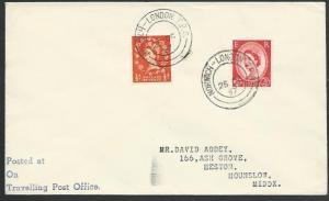 GB 1957 cover NORWICH - LONDON TPO railway cancel..........................53346