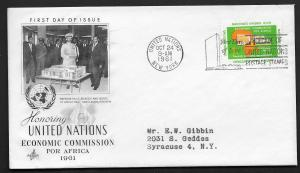 United Nations First Day of Issue Oct 24, 1961 Economic Commission Africa