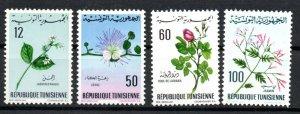 1968 - Tunisia - Tunisie -  Flowers- Fleurs - Complete set 4v.MNH**