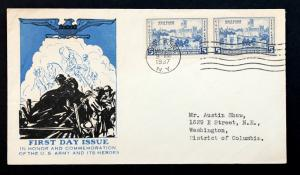 US Stamp Sc# 789 FDC Westpoint Military Academy 1937 5c Top Notch Cachet