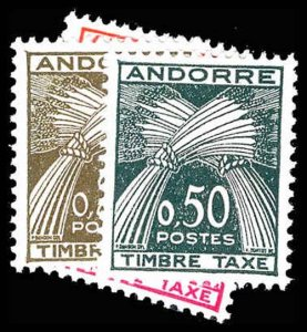FRENCH ANDORRA J42-45  Mint (ID # 87433)