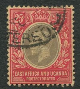 East Africa & Uganda - Scott 46 - KGV Definitive -1912 - Used -Single 25c Stamp