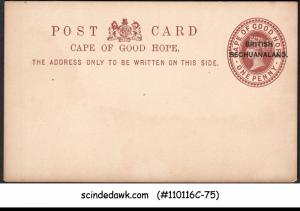BRITISH BECHUANALAND - 1d QV POST CARD OVPT on CAPE OF GOOD HOPE - MINT