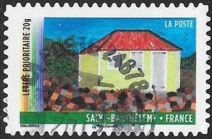 France 4136 Used - ‭‭‭Year of Overseas Territories - Saint-Barthélemy