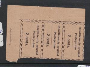 Zanzibar Postage Due SG D18 Strip of Three Pos 5,7.9 NGAI (1dqk)