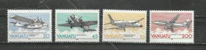 Vanuatu Scott catalogue # 501-504 Airplanes Mint NH