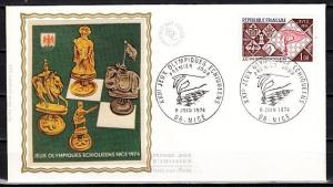 France, Scott cat. 1413. 21st Chess Olympiad issue. Silk Cachet First day cover.