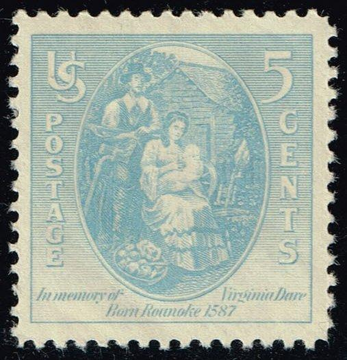 US #796 Virginia Dare and Parents; MNH (0.35)
