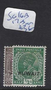 KUWAIT  (PP2102B)  ON INDIA KGV  1/2A-1A  SG 16B, 17B   MOG