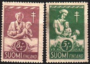 Finland. 1946. 326-27. Nurse, children, medicine. MLH.
