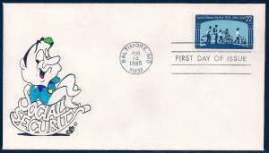 UNITED STATES FDC 22¢ Social Security 1985 Ellis