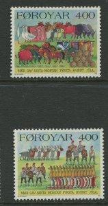 STAMP STATION PERTH Faroe Is.#274-275 Pictorial Definitive Iss.MNH 1994 CV$3.00