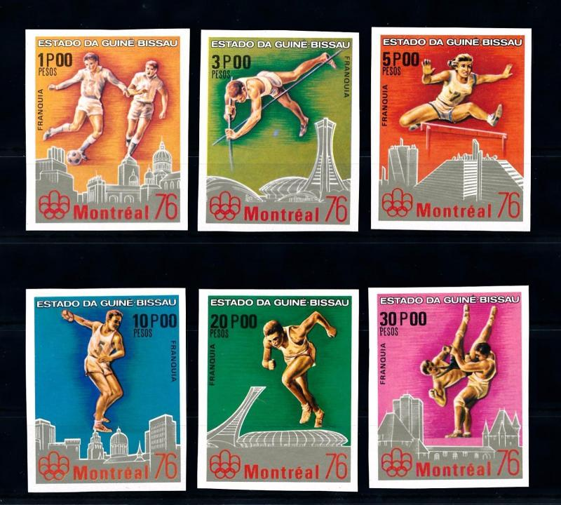 [56307] Guinea Bissau 1976 Olympic games Football Athletics Imperforated MNH