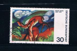 Germany 1135 Used Deer in Red painting (GI0209P29)+