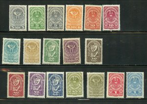 AUSTRIA SCOTT# 200-218 MINT LIGHTLY HINGED AS SHOWN CATALOGUE VALUE $4