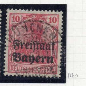 Bayern 1919 Early Issue Fine Used 10pf. Optd NW-10740