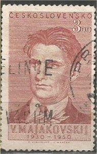 CZECHOSLOVAKIA, 1950, used 3k, Mayakovsky Scott 405