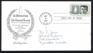 U.S.A. Sc#1246 John F. Kennedy Boston MASS. ArtMaster (1964) FDC (B)
