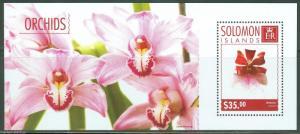 SOLOMON ISLANDS 2014 ORCHIDS  SOUVENIR SHEET MINT NH