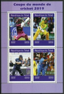 Chad Sports Stamps 2019 MNH Cricket World Cup 2019 England & Wales 4v M/S