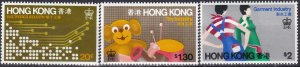 Hong Kong #351-3 MNH  (Z1453)
