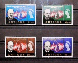 British Colony Antigua 1966 Churchill Commemoration MH* Full Set A22P16F8716