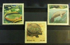 Brazil 1979 fauna wild animals turtles flora amazon park set MNH
