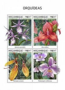 HERRICKSTAMP NEW ISSUES MOZAMBIQUE Orchids Sheetlet