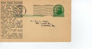 DENVER STOCK EXCHANGE QUOTES, DENVER, COLORADO 1936  FDC8359