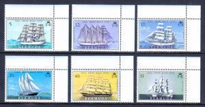 Bermuda - Scott #337-342 - MNH - Corner singles - SCV $10.20