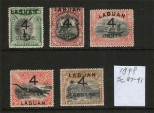 Malaya S. Setts. Labuan 1899 Sc 87-91 MH