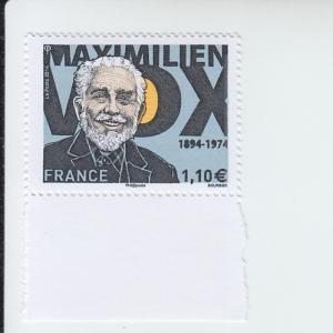 2014 France Maximilien Vox - Writer (Scott 4699)  MNH