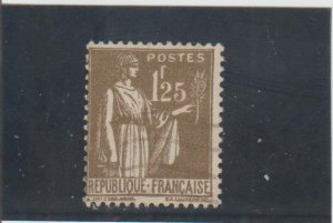 France  Scott#  279  Used  (1932 Peace with Olive Branch)