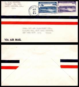 Goldpath: Dominican Republic Airmail Cover 1935. Santo Domingo. _CV17_P9
