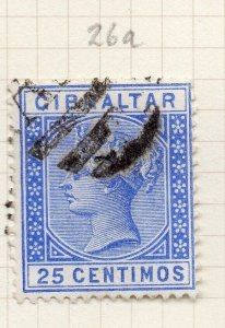 Gibraltar 1898-97 Early Issue Fine Used 25c. 276247