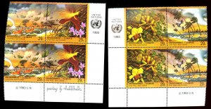 UNITED NATIONS #633-636 INSCRIPTION BOOKLETS OF 4 MNH