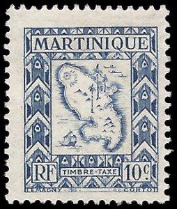 Martinique 1947 #J37 Mint H