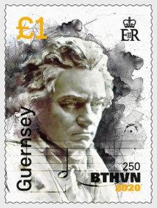 2020 Guernsey Beethoven #4(Scott NA) MNH