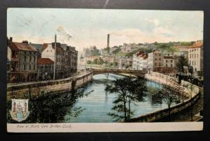 1918 North Gate Bridge Co Cork Ireland to Mass Real Picture Postcard Cover