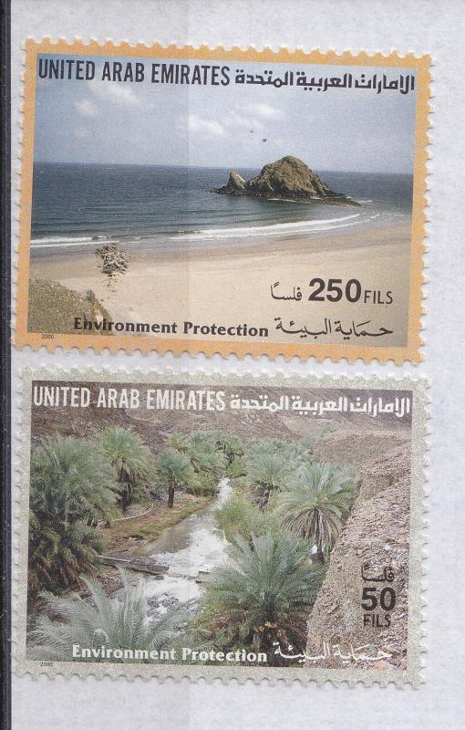 UNITED ARAB EMIRATES  2000 	Environmental Protection  MNH SC 661-62
