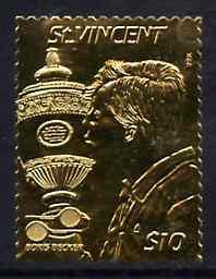 St Vincent 1987 International Tennis Players $10 (Boris B...
