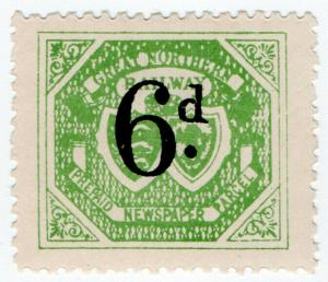 (I.B) Great Northern Railway : Newspaper Parcel 6d (small format)