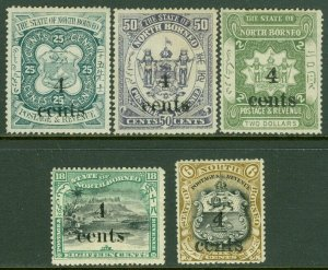 EDW1949SELL : NORTH BORNEO 1904 Sc #125, 128 VF MOG #130, 31, 33 VF MNG Cat $45