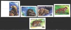 Kyrgyzstan. 1995. 55V-60V from the series. Fauna of Kyrgyzstan. MNH.