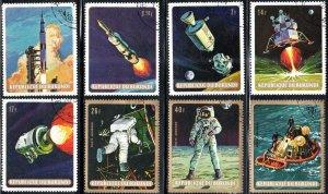 Burundi 297-301, C104-06 - Cto - Moon Landing (Cpl) (1969) (cv $2.70)