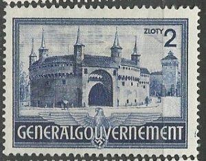 Poland (General Government)    Scott # N74 - MH