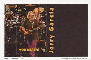 Montserrat - 1998 Musician Jerry Garcia - Stamp Souvenir Sheet - Scott #956