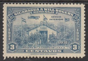 Nicaragua, Sc C238, MLH, 1939, Will Rogers